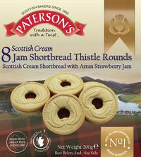 Patersons Scottish Cream Jammy Shortbread 200g image