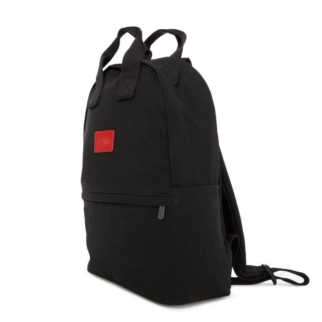 Manhattan Portage: Waxed Nylon Governors Backpack - Black