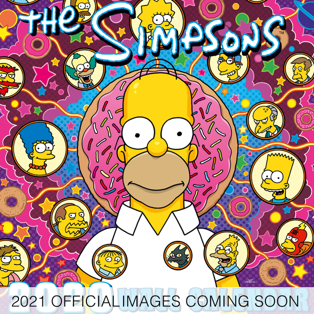 Official The Simpsons 2021 Square Wall Calendar
