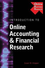 Introduction to Online Accounting and Financial Research by Susan M. Klopper image