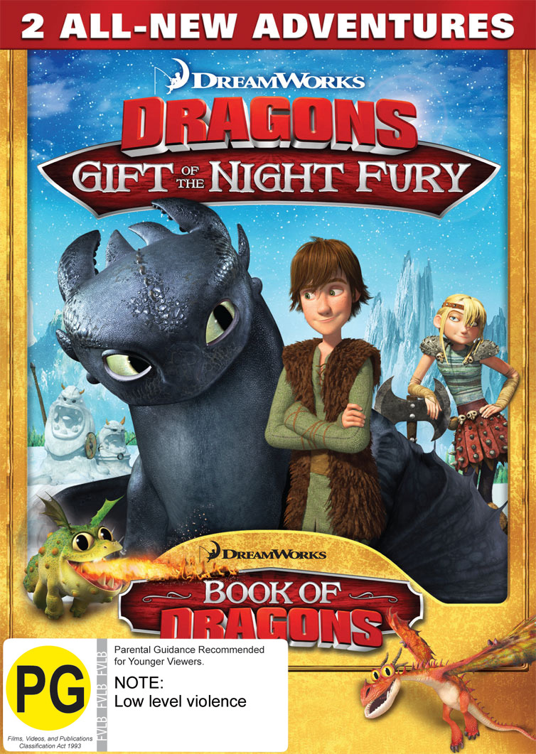 Dragons: Gift of the Night Fury & Book of Dragons on DVD image