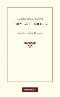 Selections from the Poems of Percy Bysshe Shelley by Percy Bysshe Shelley image