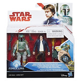 Star Wars: Force Link Figure - Han Solo & Boba Fett 2 Pack