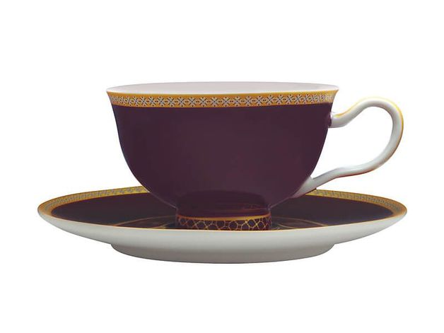 Maxwell & Williams Teas & C's: Kasbah Classic Footed Cup & Saucer - Violet (200ml)