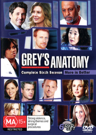 Grey's Anatomy - Season 6 (6 Disc Set) on DVD