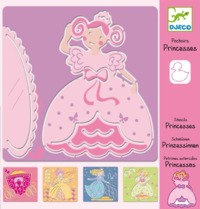 Djeco: Design - Princesses Stencils