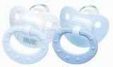 NUK: Baby Blue Silicone Soother - Size 1 (2 Pack)