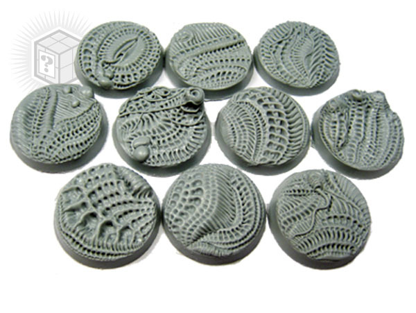 Secret Weapon Beveled Edge Base: 25mm Alien Invasion Bases (10)