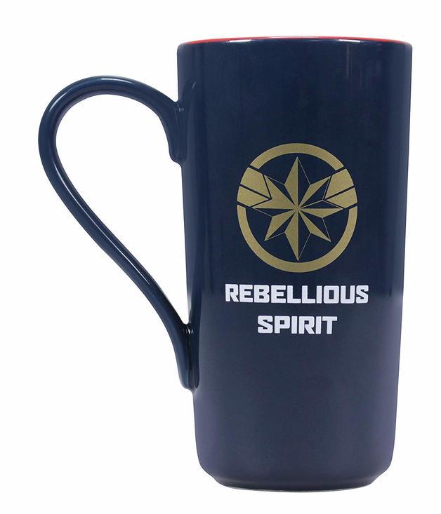 Marvel: Captain Marvel 'Rebellious Spirit' Latte Mug (450ml)