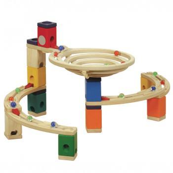 Quadrilla Wood Marble Run Set - Basic 99pc image