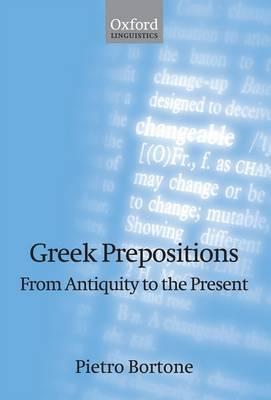 Greek Prepositions by Pietro Bortone