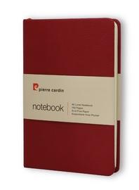 Pierre Cardin: A6 Hard Cover Notebook - Burgundy