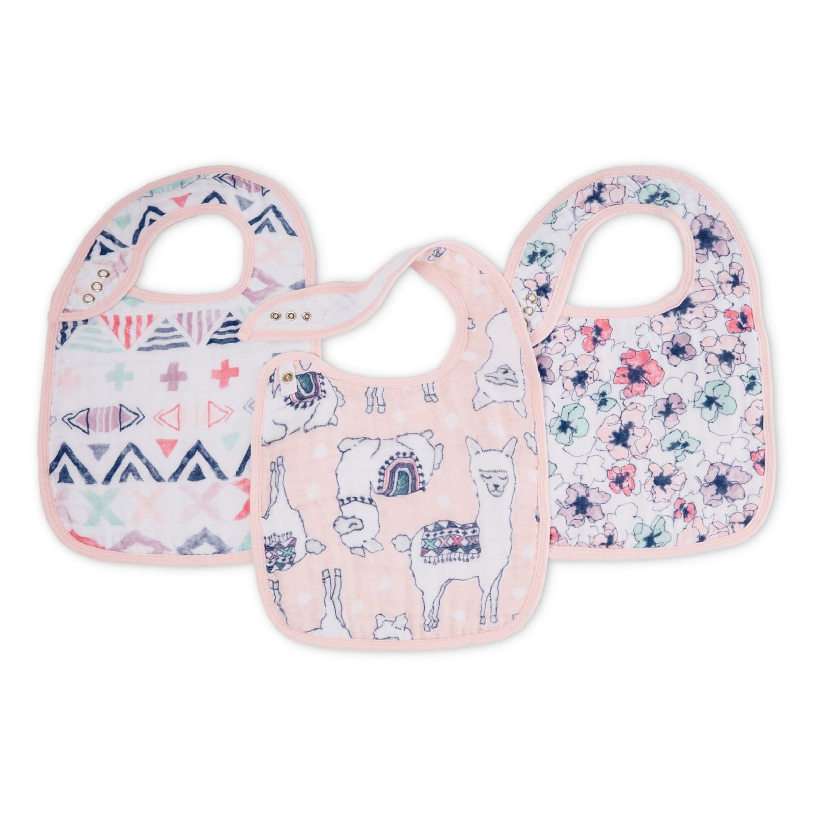 Aden + Anais: Classic Snap Bib - Trail Blooms (3 Pack) image