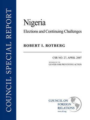Nigeria by Robert I Rotberg