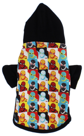 Spider-Man Pop Art Dog Hoodie (XS)
