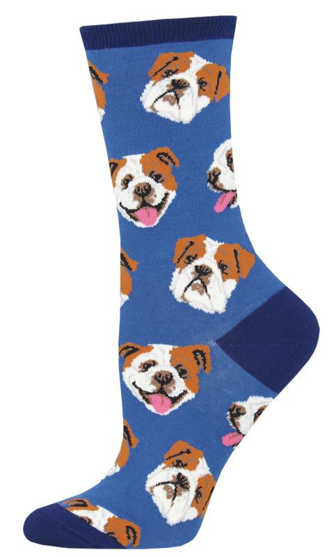 Socksmith: Women's Incredibull Crew Socks - Blue