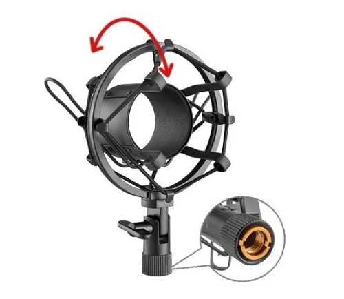 Brateck Condenser Microphone w/ Clamp-On Mic Boom Arm Stand Bundle image