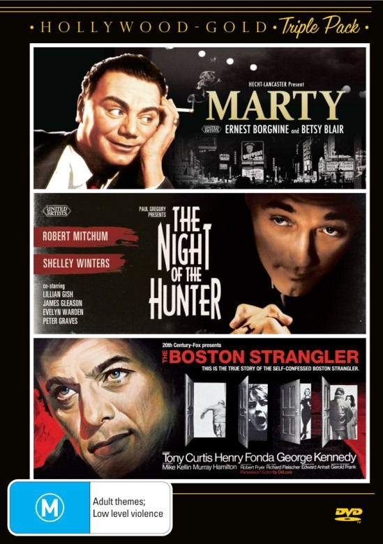 Marty/The Night Of The Hunter/The Boston Strangler on DVD