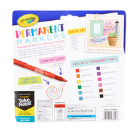 Crayola: Take Note - Permanent Markers Fine Point (12 Pack) image