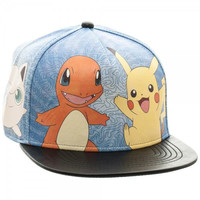 Pokemon: Printed - PU Snapback Hat