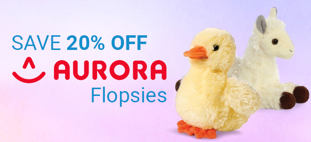 20% off Aurora Flopsies!