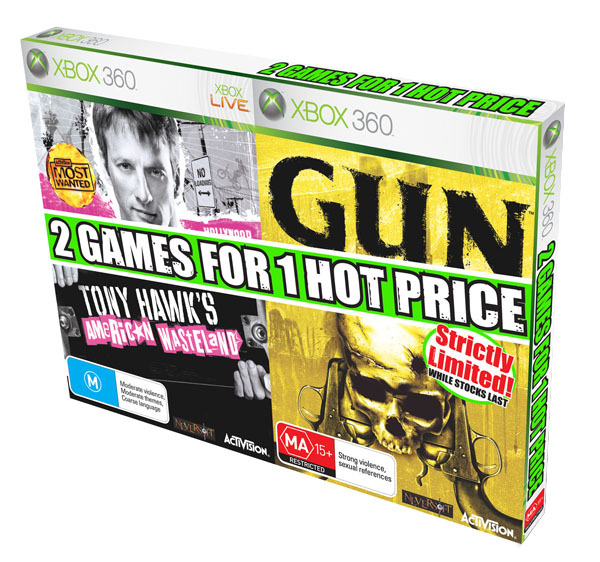 GUN + Tony Hawk's American Wasteland for Xbox 360