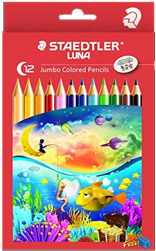 Staedtler - LUNA Jumbo Coloured Pencils - Pack of 12 image