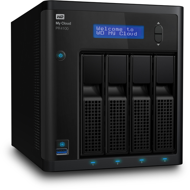 Diskless WD My Cloud Pro Series PR4100 4-Bay Gigabit Ethernet External NAS