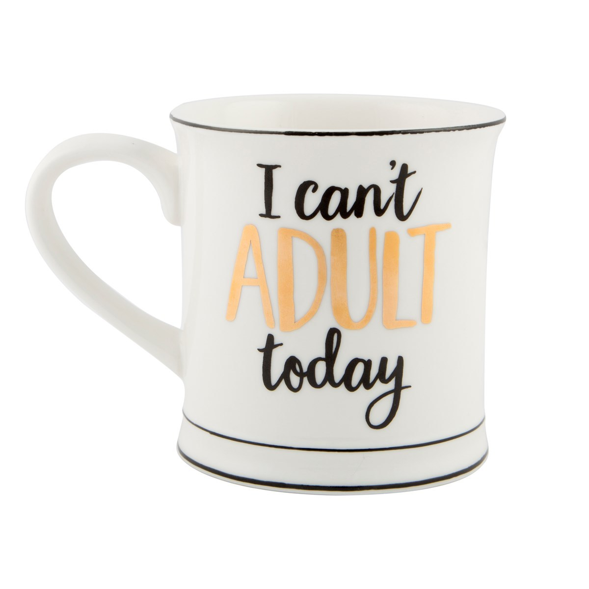 Metallic Monochrome Mug (I Can't Adult Today) image