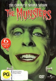 The Munsters - Complete Season 2 (6 Disc Set) on DVD image
