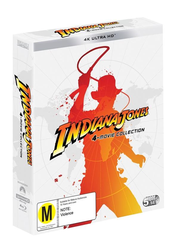 Indiana Jones: 4 Movie Collection (4K UHD) on UHD Blu-ray
