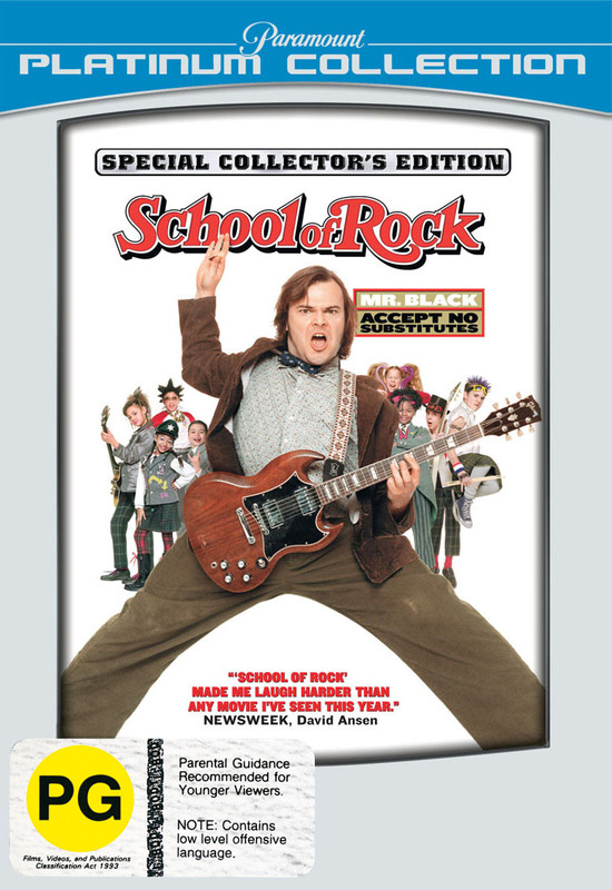 School of Rock (Platinum Edition) on DVD