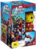 Avengers Assemble: Season 1 with Iron Man Pop Vinyl on DVD