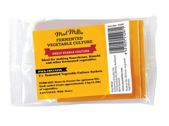 Mad Millie: Fermented Vegetable Culture Sachets x 5