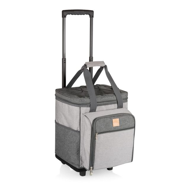 Picnic Time: Rolling Picnic Cooler (Heathered Gray)