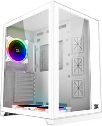 Xigmatek Aquarius S Arctic Tempered Glass Mid Tower Case