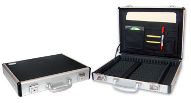"Laser Aluminium laptop carry case - Up to 15"" Laptops"
