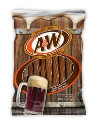"A&W Root Beer 5"" Juicy Twists 142g"