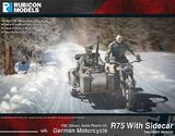 Rubicon 1/56 German Motorcycle R75 with Sidecar (ETO)