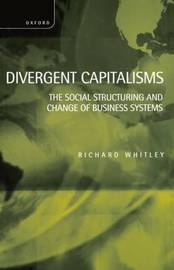 Divergent Capitalisms by Richard Whitley image