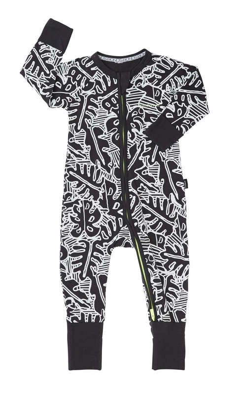 Bonds Zip Wondersuit Long Sleeve - Leaf (12-18 Months)