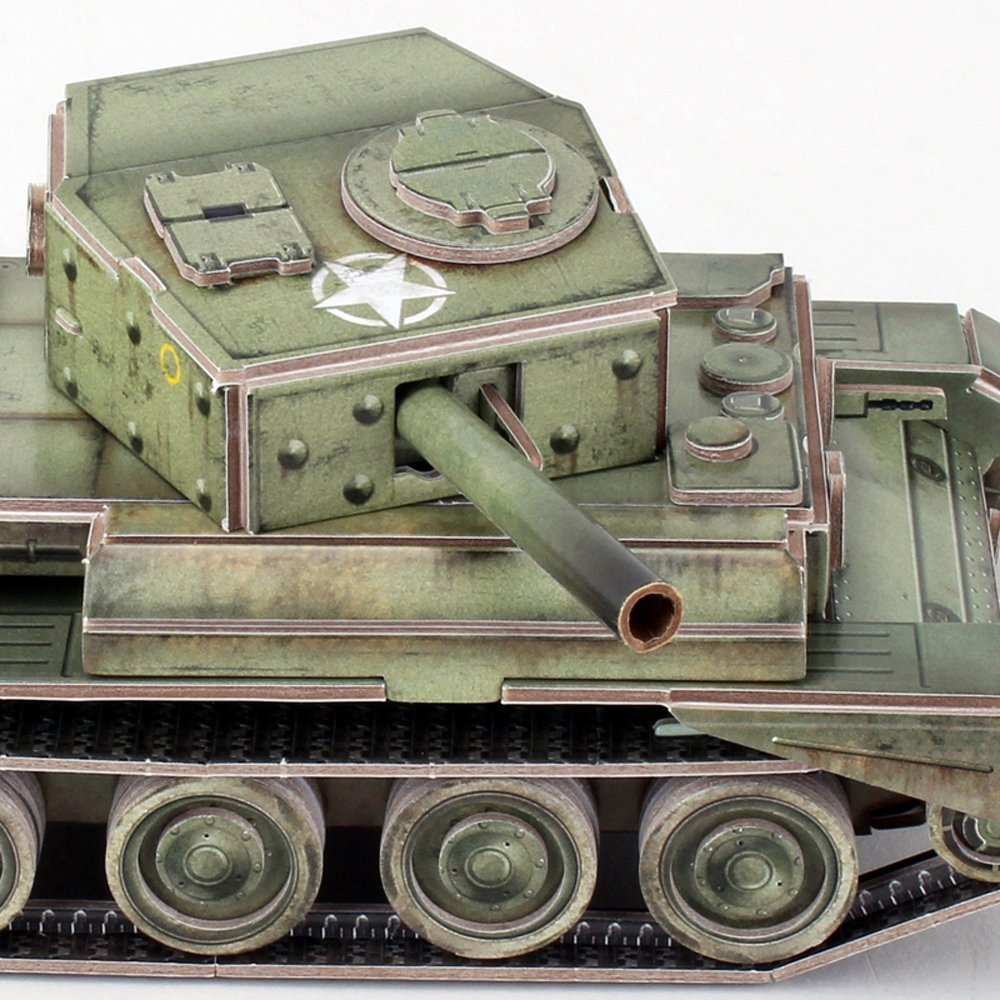 CubicFun: ArmiBuild - British Cromwell Mk. IV - 213 Piece 3D Puzzle image