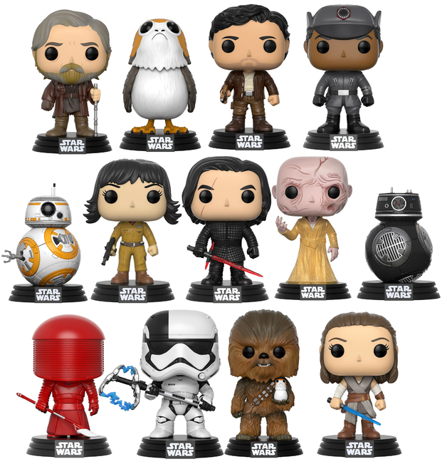 Star Wars: The Last Jedi - Pop! Vinyl Bundle (with a chance for a Chase version!)