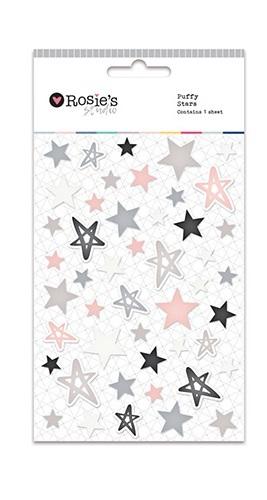 Rosie's Studio: Embellishments - Puffy Star Stickers (Neutrals)