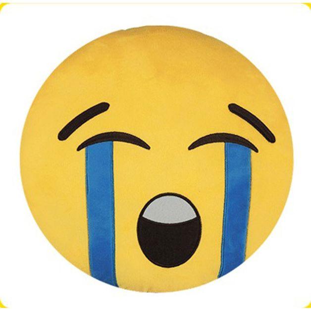 Loudly Crying Face Emoji Cushion - 34cm