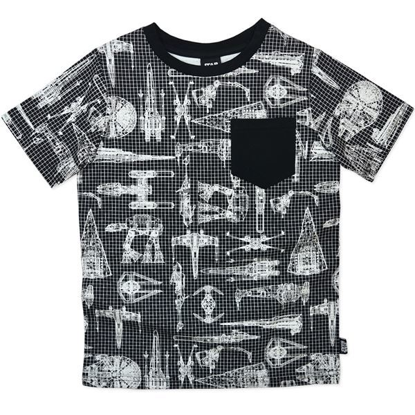 Star Wars T-Shirt with Blueprints - Size 14 image