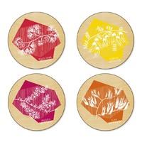 Funky Flora Coasters (Set/4)