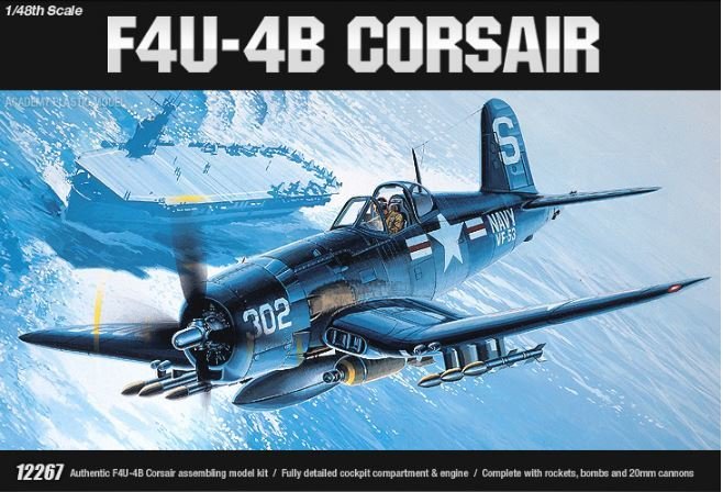 Academy F4U-4B Vought Corsair 1/48 Model Kit image