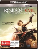 Resident Evil: The Final Chapter on Blu-ray, UHD Blu-ray, UV