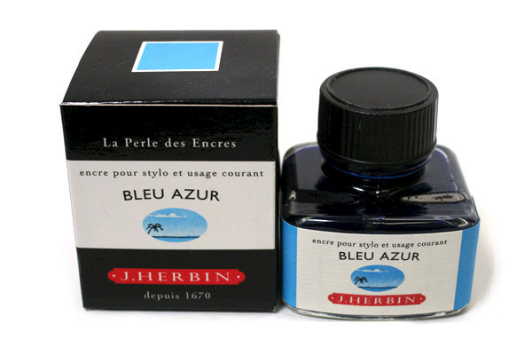 J Herbin: Fountain Pen Ink - Blue Azure (30ml) image